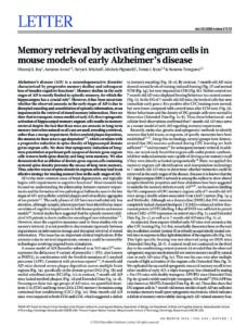 Memory retrieval by activating engram cells in mouse models of early Alzheimer's disease