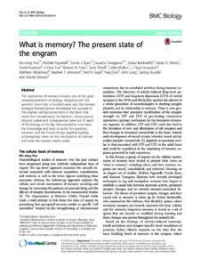 What is memory? The present state of the engram