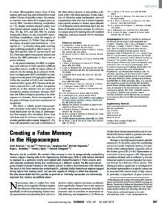 Creating a False Memory in the Hippocampus